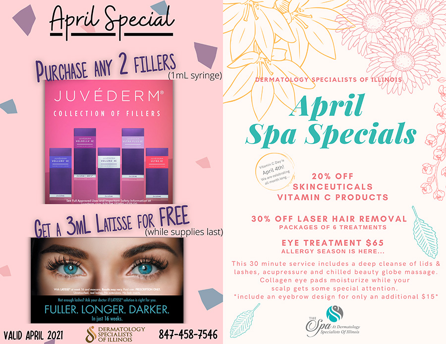 April Specials at Dermatology Specialists of Illinois