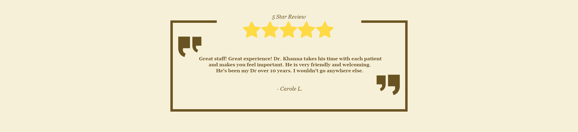 Dr. Vikram Khanna Board-Certified Dermatologist, Algonquin IL - 5 star Review